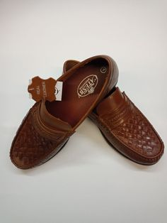 Men s New Leather Slip On Basket Weave Moccasin Loafer Shoes black Tan 6 to  12 aedf8e6aa1d