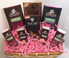 Dark No Sugar Chocolate Gift Basket