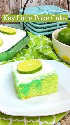 Lime Desserts, Cold Desserts, Great Desserts, Summer Desserts, Delicious Desserts, Jello Recipes, Cake Mix Recipes, Cheesecake Recipes, Dessert Recipes
