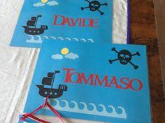 Pirate personalized table mat - Tovagliette dei pirati personalizzate