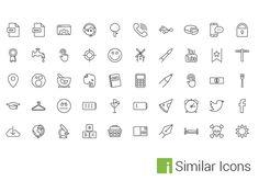 50 Multi Purpose Vector Line Icons Set