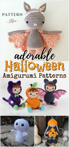 I love these sweet little Halloween amigurumi dolls! Such perfect little handmade toys to make! Great crochet patterns and knitting patterns to DIY! I love these sweet little Halloween amigurumi dolls! Such perfect little handmade toys to Crochet Fall, Holiday Crochet, Diy Crochet, Crochet Crafts, Crochet Projects, Crochet Toys, Sewing Projects, Diy Projects, Diy Crafts