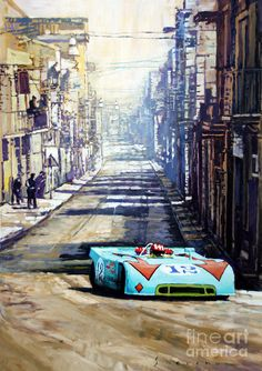Targa Florio 1970 Porsche 908 Siffert Painting by Yuriy Shevchuk