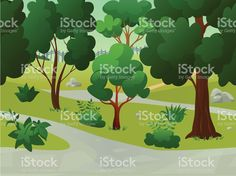 Illustration of a park landscape royalty-free stock vector art