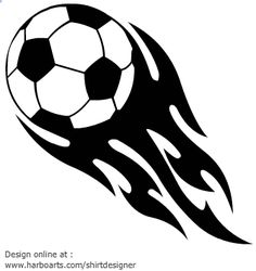 Download : Soccer Football with Flames - Vector Graphic