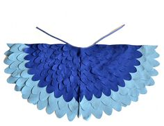 Childrens Bird Costume Wings, Blue Parrot Wings Kids Dress up Toy, Girls and Boys, Toddlers. €48.00, via Etsy.