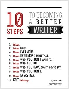 10 steps to becomng a better writer