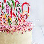 Candy Cane Peppermint and White Chocolate Swirl Cake by raspberri cupcakes