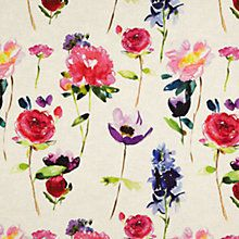 Buy bluebellgray Red Rose Fabric, Linen Online at johnlewis.com