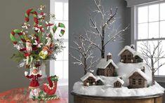 weihnachtsdeko ideen häuser tischdeko accessoires