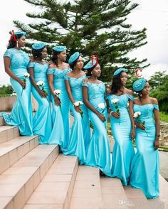 2017 Turquoise South African Mermaid Bridesmaid Dresses Lace Bodice Bridemaid Gowns Backless Maid Of The Honor Dresses Bridesmaids Dress Bridesmaids Dresses Uk From Faithfully, $90.46| Dhgate.Com
