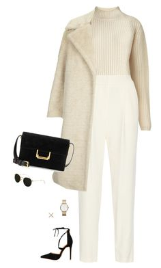 """""""Cream"""" by llsbo ❤ liked on Polyvore featuring Whistles, ADAM, Topshop, Yves Saint Laurent, Marc by Marc Jacobs, Eva Fehren, Ray-Ban, women's clothing, women and female"""