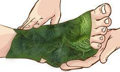 Enveloppez vos pieds dans des feuilles de chou et admirez les résultats