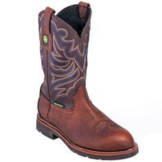 John Deere Boots: Men's JD4724 Waterproof Brown 11-Inch Cowboy Boots,    #Boots…
