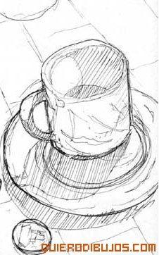 Resultado de imagen para taza de cafe dibujo a lapiz