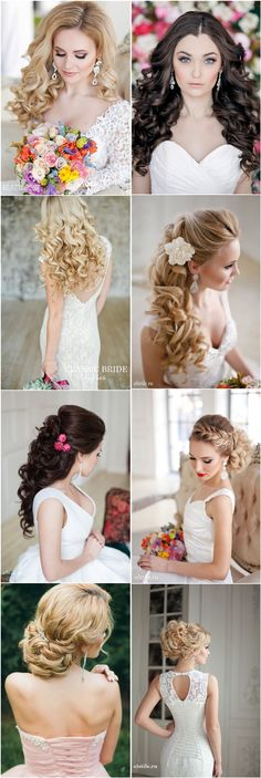 long wavy curly wedding hairstyles and wedding updos - Deer Pearl Flowers
