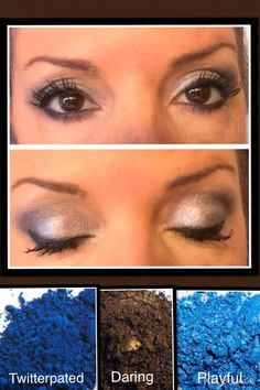 PLAYING WITH PIGMENTS Pigments:  Twitterpated, Daring, Playful Liner:  Perfect Lashes:  3D Mascara