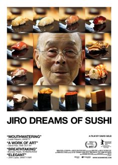 JIRO DREAMS OF SUSHI is the story of 85 year-old Jiro Ono, considered by many to be the world's greatest sushi chef. He is the proprietor of Sukiyabashi Jiro, a sushi-only restaurant inauspiciously located in a Tokyo subway station. Netflix Movies, Hd Movies, Movies To Watch, Movies Online, Movies Free, Movies 2014, Free Films, Movie Film, Chef Sushi