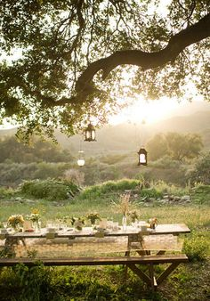 Picnic Style Wedding | wedding reception ideas - intimate outdoor wedding picnic style