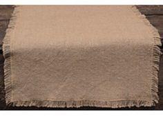 "Burlap TABLE RUNNER 13"" x 48"" 100% Cotton - Primitive - Rustic - Natural  #NancysNook"