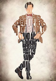 Eleventh Doctor Inspired Doctor Who Poster- $25