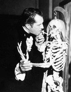 Vincent Price on the set of TWICE TOLD TALES (1963)