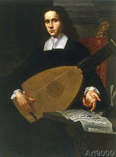 Antonio Domenico Gabbiani - Portrait of a lute player