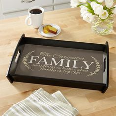 galvanized serving tray bless the food before us family beside
