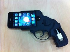 Ruger iPhone case, so not needed, yet so cool