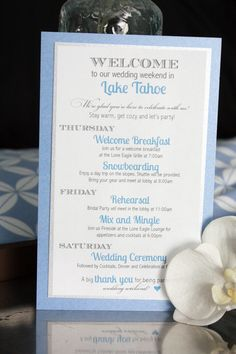 Guest Comfort: Itinerary for Winter Wedding
