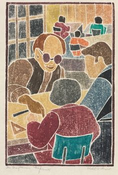 Mabel Hewit: The Draftsmen's Conference | Cleveland Museum of Art