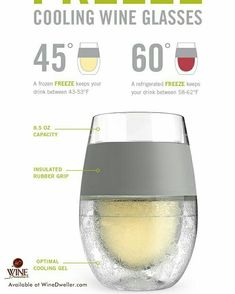Cooling wine glasses for your white wines