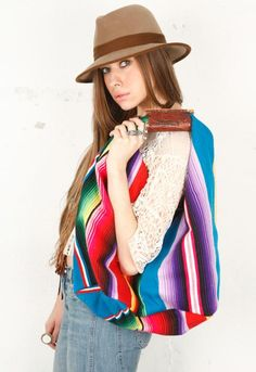 Hobo Serape - From Totem | Bright Handbag, Accessory, Clothes & Clothing