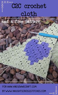 A C2C (corner to corner) crochet heart washcloth with a free pattern to make your own. A lovely idea of a useful gift this valentines day or just because.