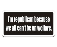 Republican Anti Welfare Decal Usa American Hard Hat Matte Vinyl Sticker Hgv