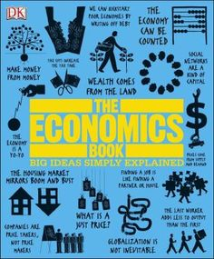 """""""Provides explanations and step-by-step diagrams on economics, with quotes and witty illustrations to enhance understanding of its concepts."""""""