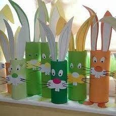 Easter is coming. Cardboard Tube Crafts, Toilet Paper Crafts, Paper Roll Crafts, Paper Crafts For Kids, Daycare Crafts, Toddler Crafts, Preschool Crafts, Bunny Crafts, Easter Crafts