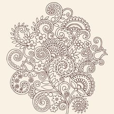Paisley tattoo design