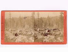 Stereoview Houseworth CPRR 780 Loaded Wagon Team Supply Crew Dutch Flats Placer | eBay