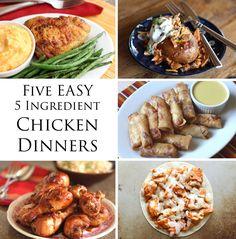 5 EASY 5 Ingredient Chicken Dinner Recipes! by Barefeet In The Kitchen #recipe #roundup #chicken #easy #5ingredient #quick #summer #midweek #mealsolution