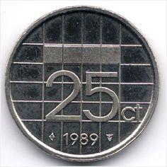 Netherlands 25 Cents 1989 (2) Veiling in de Nederland,Europa (niet of voor €),Munten,Munten & Banknota's Categorie op eBid België