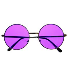 #round #sunglasses #hippie #indie #retro #vintage #fashion #colorful #shades #purple #lens #gun #metal