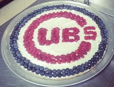 Chicago Cubs Dessert Pizza