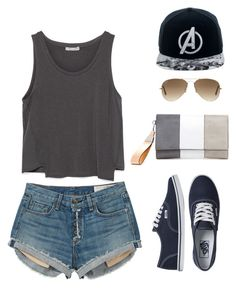 """OOTD- Shopping adventure"" by kirathelovergirl ❤ liked on Polyvore featuring Zara, rag & bone, Vans, Ray-Ban and Marvel Comics"