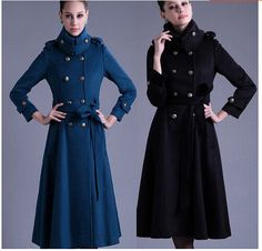 New Fashion Hot Sale Womens Wool Blend Full Length Jacket Slim Fit Parka Military Trench Coat Belt. Material :wool blend. Size Length Bust Shoulder Sleeve.length. All products are quality checked. They are new and in good. | eBay!