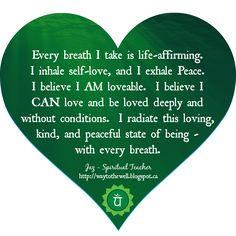 Heart Chakra Affirmation http://www.lawofatractions.com/young-entrepreneur-took-the-advantages-of-the-modern-world/ #holistichealth