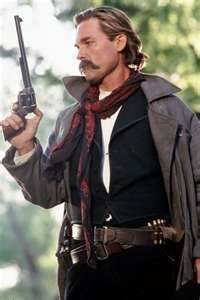 Kurt Russel as Wyatt Earp. 'Are you gonna skin that smoke wagon, or just stand there and bleed?'
