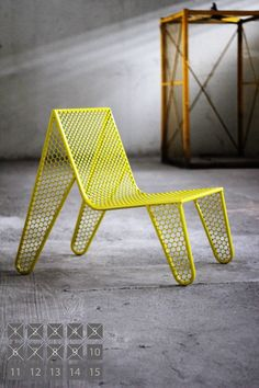 Stainless steel plate chair by Brazilian designer Zanini De Zanine