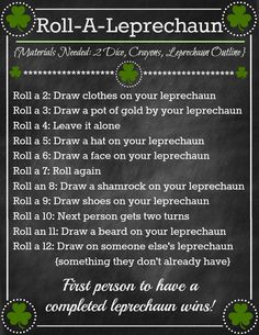 A fun St. Patrick's Day game to play with the family or friends!