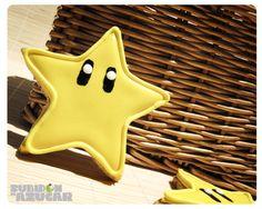 Galletas estrellas de Super Mario Bros! Mario Bros stars cookies